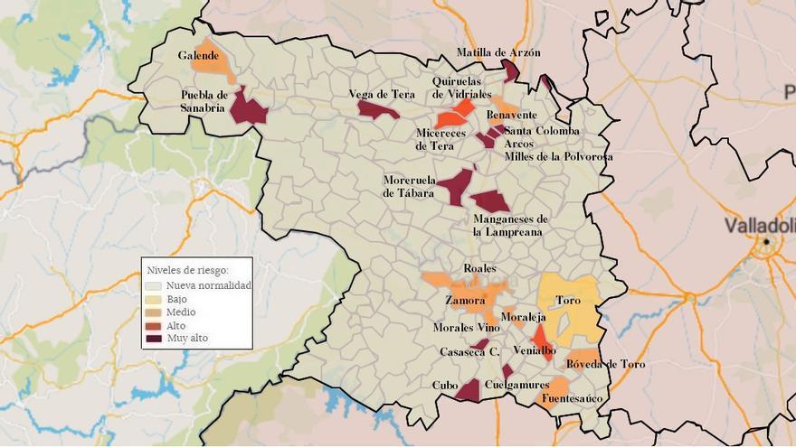 Mapa de coronavirus de Zamora, hoy, sábado | Villalpando y Palacios de Sanabria, libres de COVID