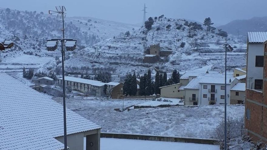 Nieve en el interior de la Comunitat Valenciana