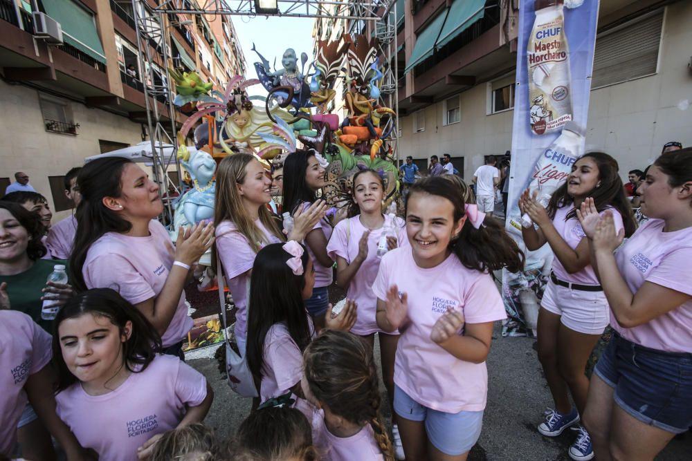 Florida Portazgo, ganadora del primer premio infantil de las Hogueras