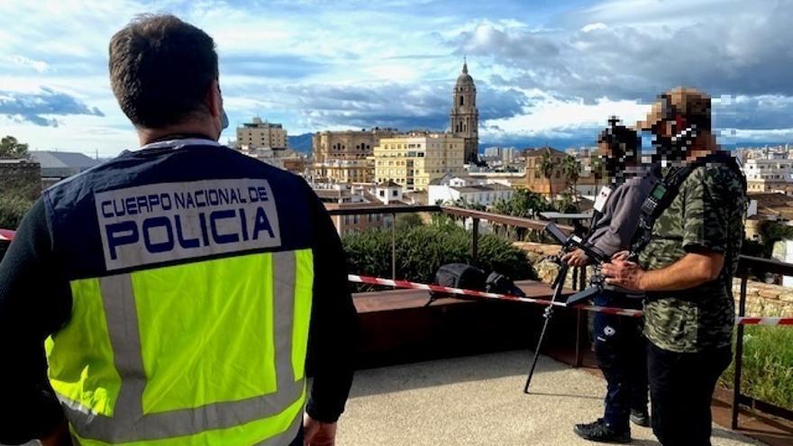 La Policía vigila la actividad de los drones en Málaga