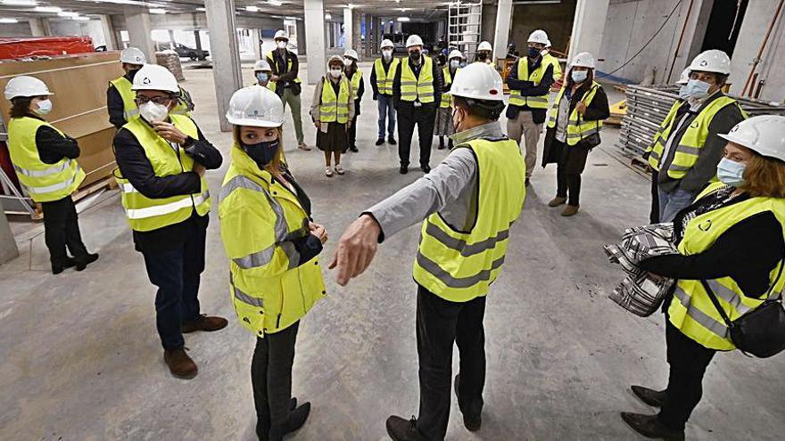 Los fiscales visitan la Ciudad de la Justicia, cuyas obras avanzan y a la que pronto se dotará de mobiliario