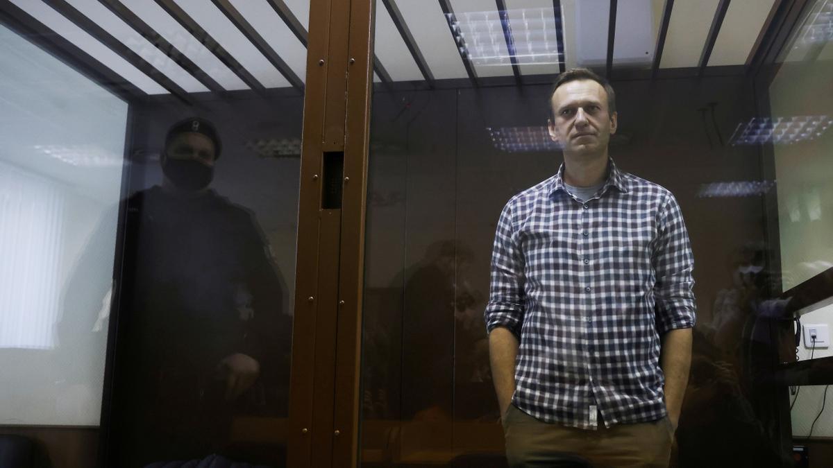Alexei Navalni, durante el juicio