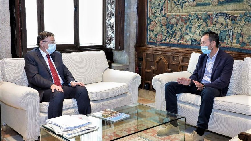 Puig le anuncia al alcalde la inminente ampliación del Hospital de Elche