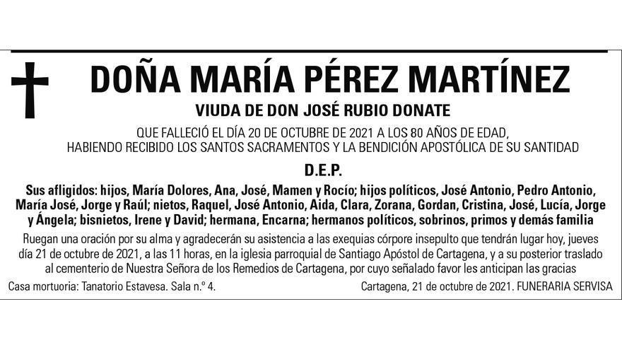Dª María Pérez Martínez