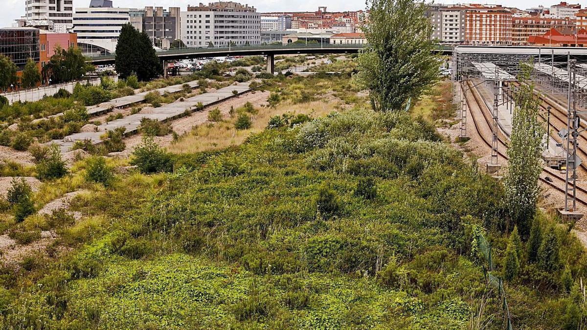 Los terrenos del plan de vías. La estación de Moreda está prevista a la altura del viaducto del fondo. | Marcos León