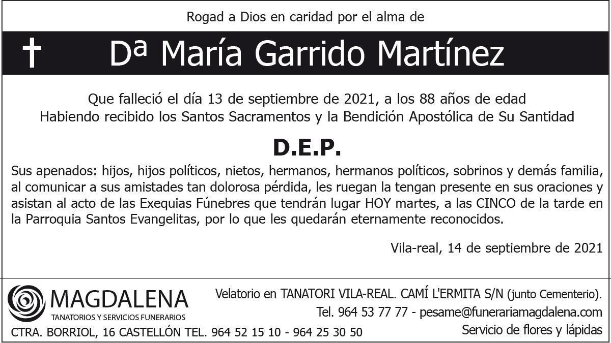 Dª María Garrido Martínez