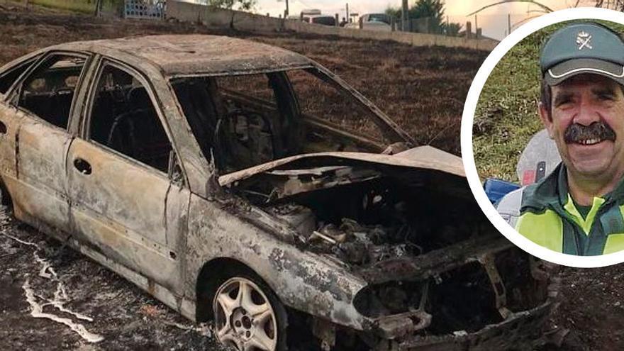 """Conmoción en Gijón por la muerte de un guardia civil jubilado que quedó atrapado en su coche por el fuego cuando quemaba yerba: """"Fue muy mala suerte"""""""