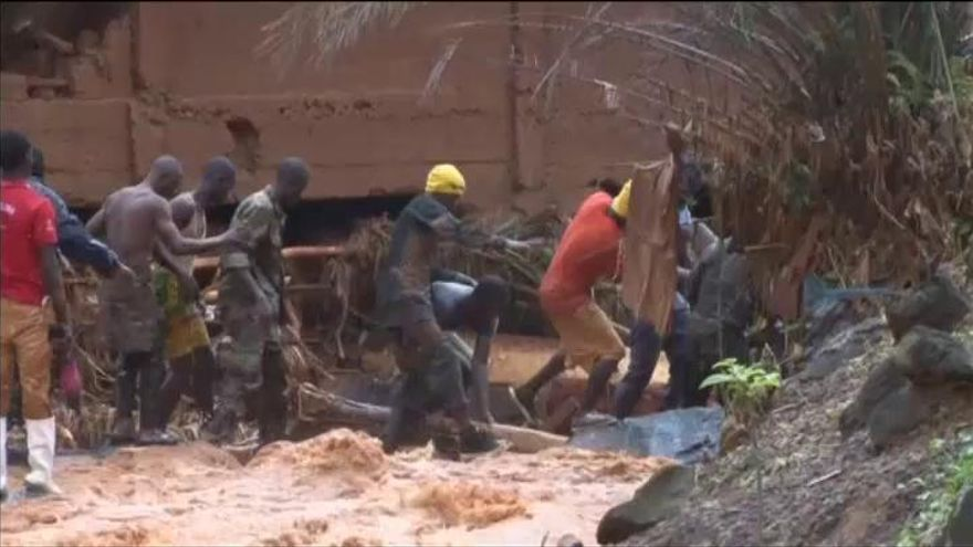 Al menos 312 muertos por inundaciones en Sierra Leona