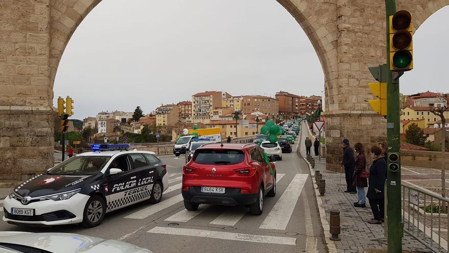 Manifestación en Teruel en contra de la instalación de molinos y placas en la provincia