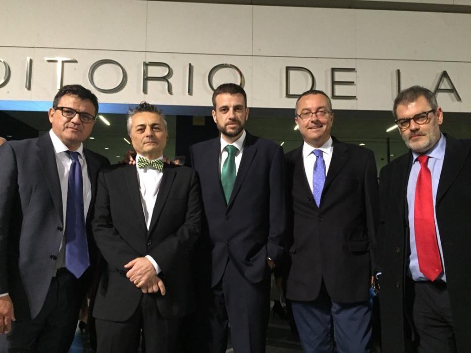 Toni Cabot, Javier Izquierdo, Pere Rostoll, Pedro Cerrada y Jorge Fauró, de Información