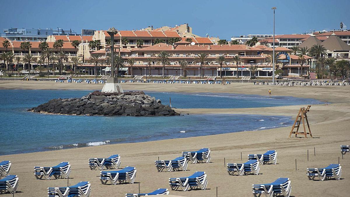Playa de Las Vistas, en Los Cristianos.