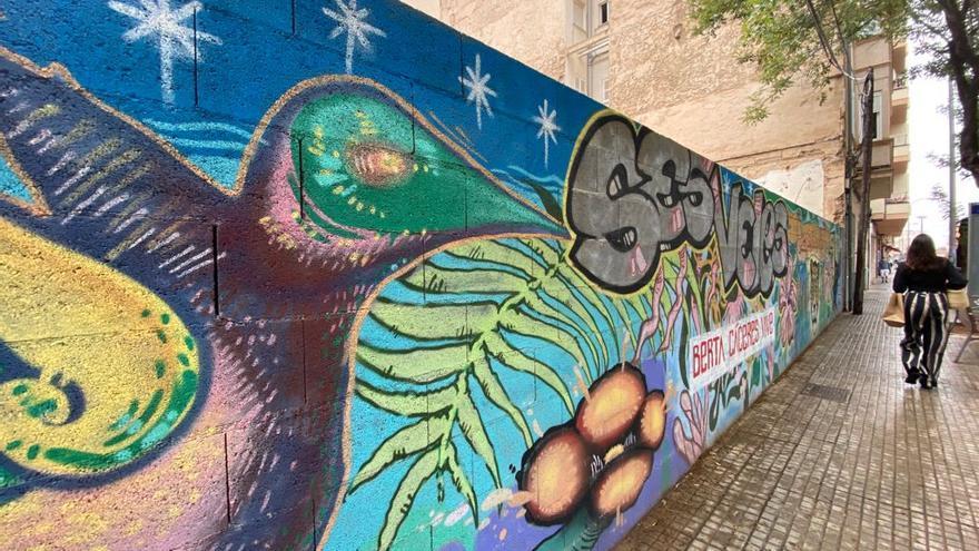 El Parc de ses Veles de Palma cuenta ahora con dos murales dedicados a Berta Cáceres a menos de 50 metros