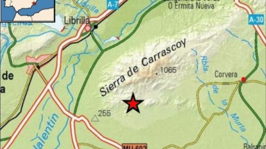 Terremoto de 3.3 grados en Librilla