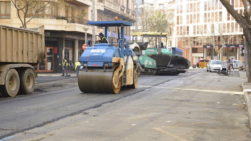 Iniciadas obras de asfaltado en Son Espanyol y Son Fortesa Sud