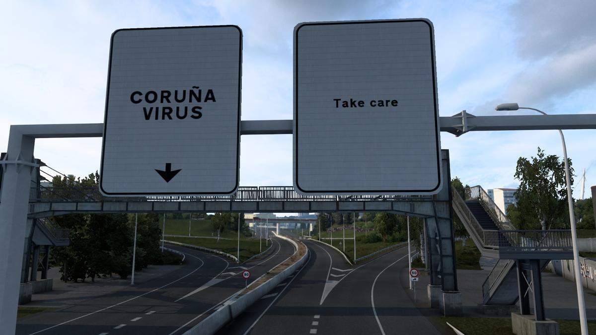 A Coruña en el Euro Truck Simulator 2
