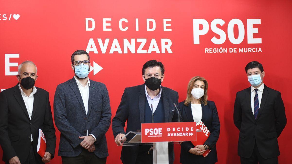 Los miembros del PSOE de Murcia.
