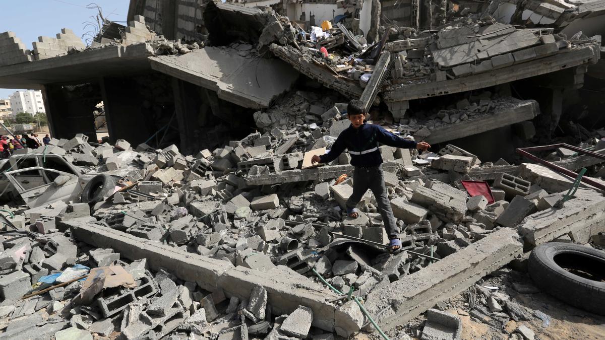 Ataque aéreo en la Franja de Gaza.