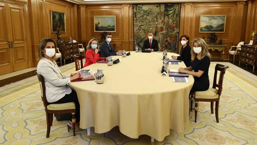 Sánchez presenta al Rey el Plan de Recuperación Económica