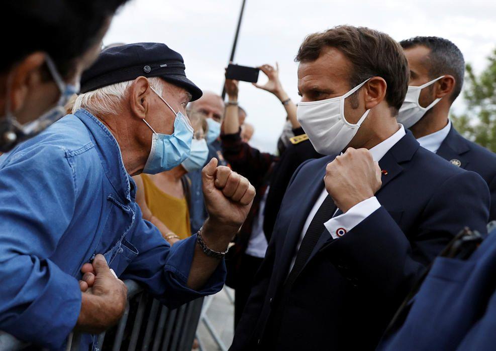 French President Emmanuel Macron visits Corsica