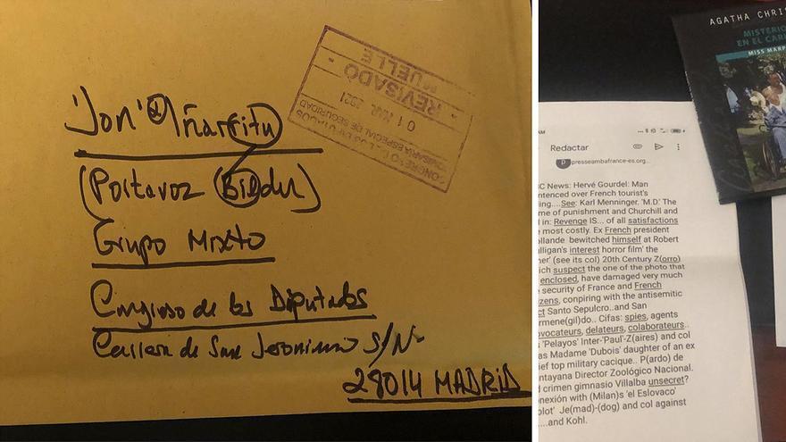 """Un diputado de Bildu recibió en marzo una carta desde El Escorial que no logró """"descifrar"""""""
