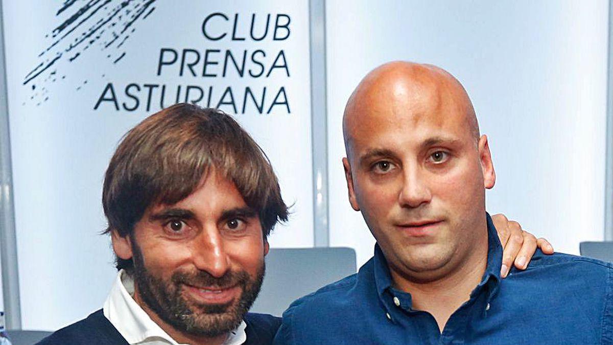 Por la izquierda, Pedro Menéndez y Javi Rozada.