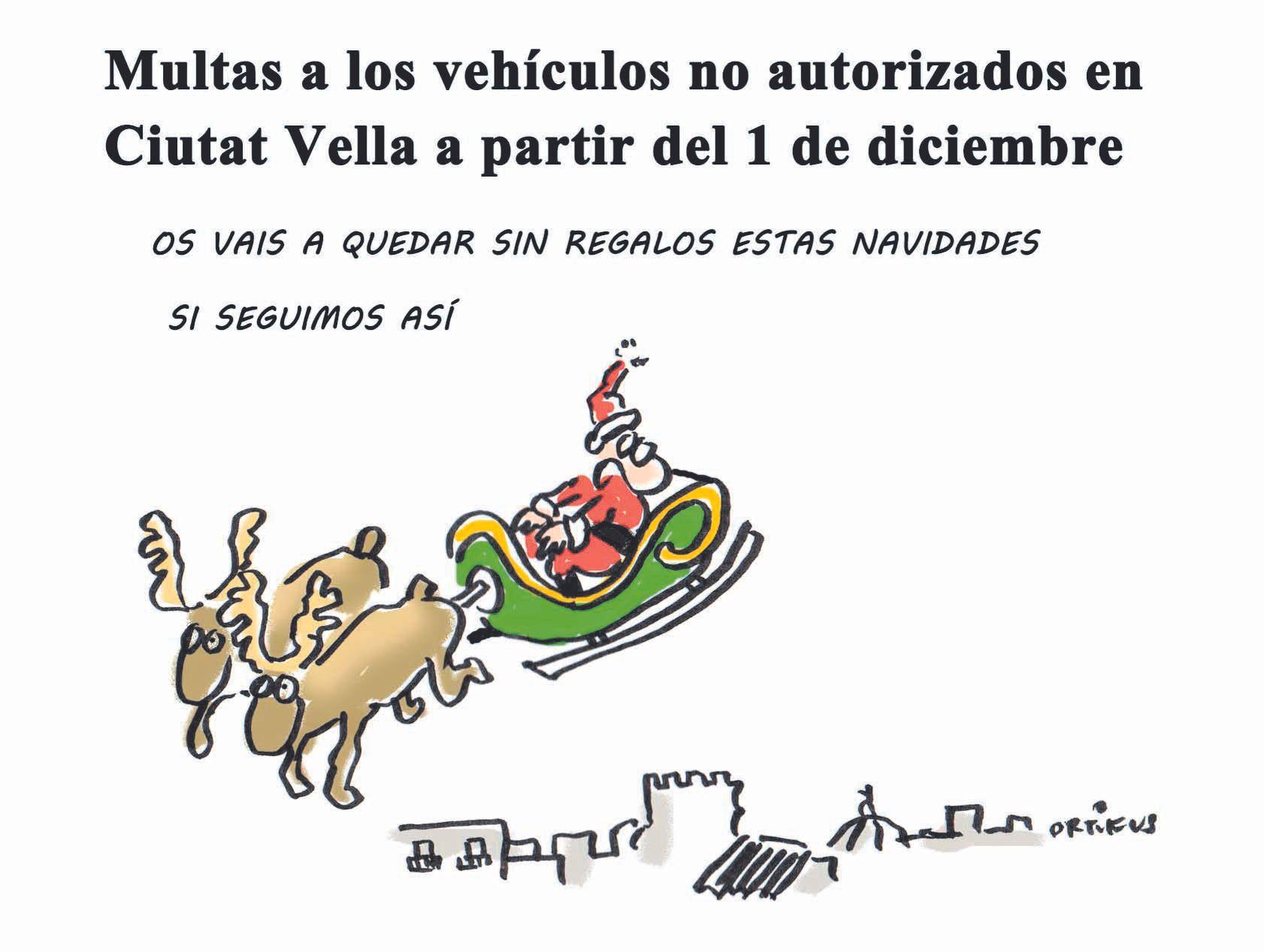 Multas a vehículos no autorizados en Ciutat Vella a partir del 1 de diciembre