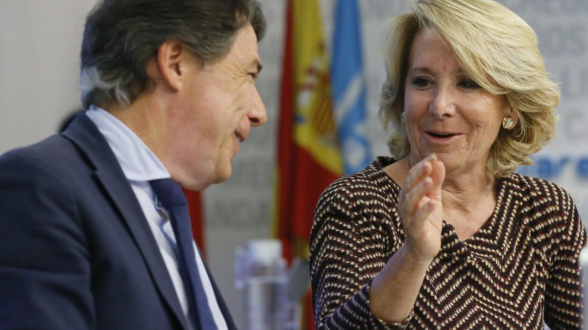 Esperanza Aguirre e Ignacio González en una imagen de archivo.