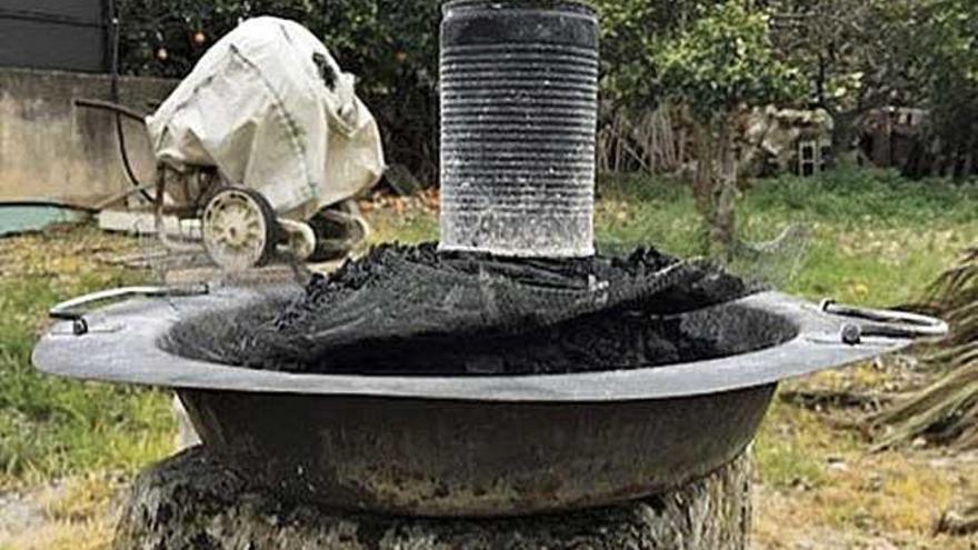 Braseros de carbón, una costumbre que aún perdura
