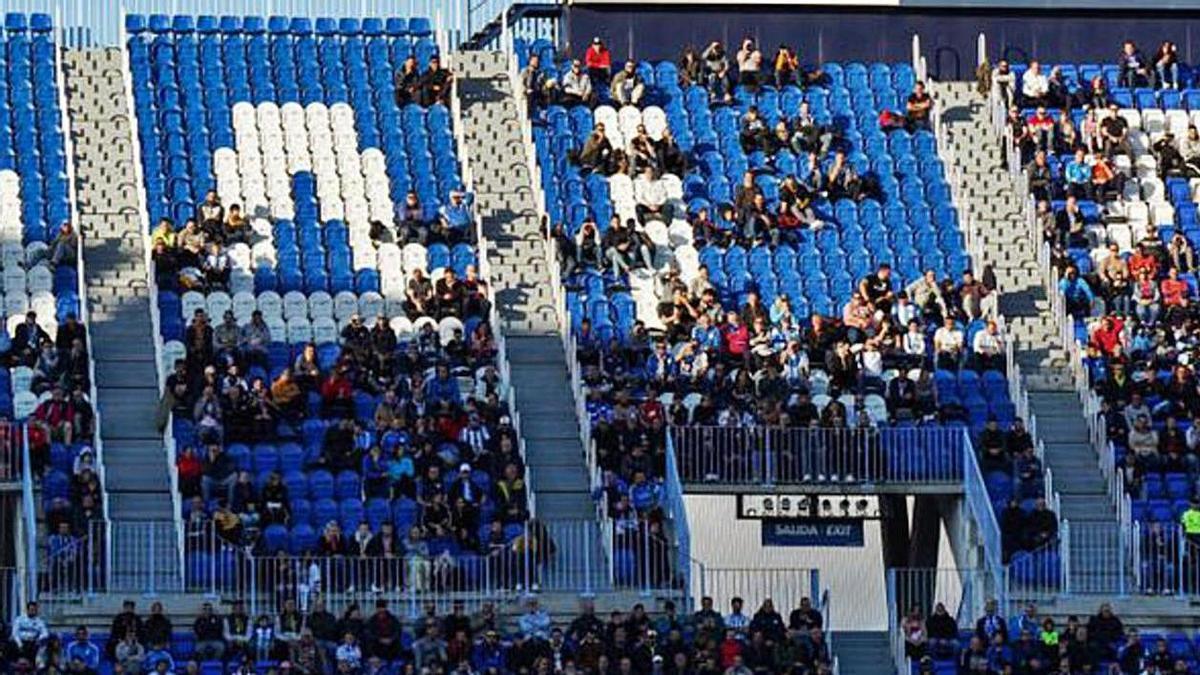 Málaga-Zaragoza del 8 de marzo del 2020, último partido con público en La Rosaleda. |