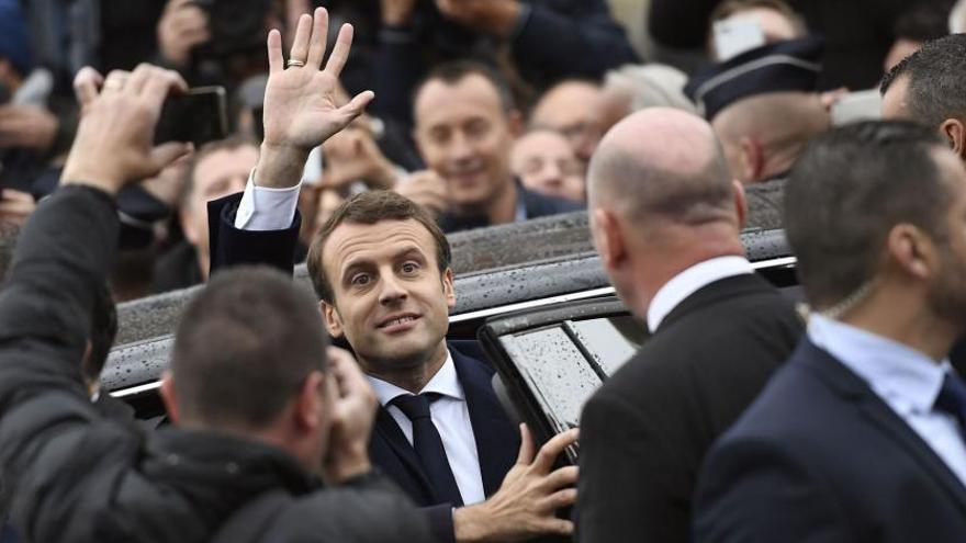 Macron gana en Francia