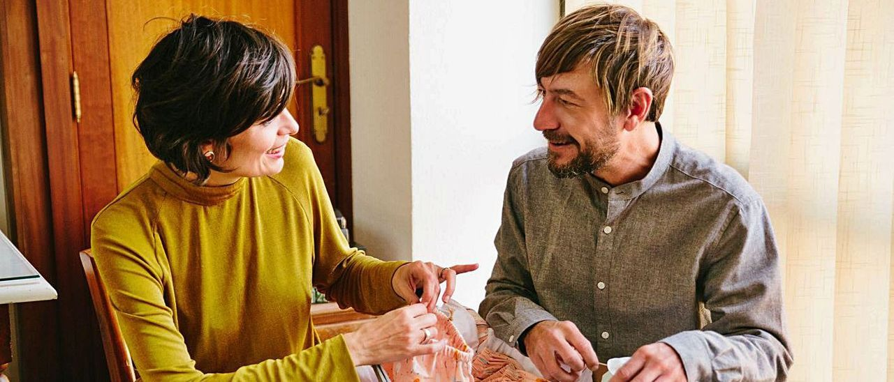 Los diseñadores Angie Vallori y Carlos Cañada.   MORADUIX