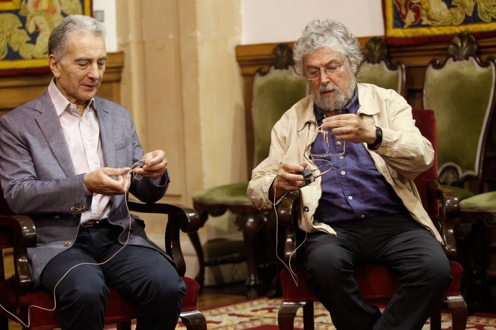 Les Luthiers en el paraninfo de la Universidad de Oviedo