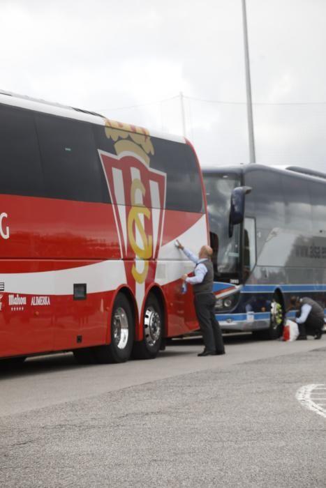 Derbi Real Oviedo - Sporting: Ambiente rojiblanco antes del partidazo de Asturias