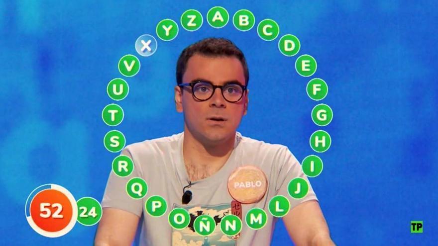 ¿Cuántas palabras habrías acertado en el rosco de Pasapalabra que ha hecho millonario a Pablo Díaz?