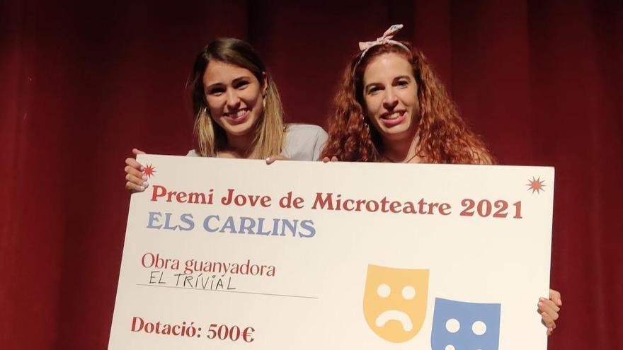 El Premi Jove de Microteatre distingeix Jèssica Rivero i Carla Garcia