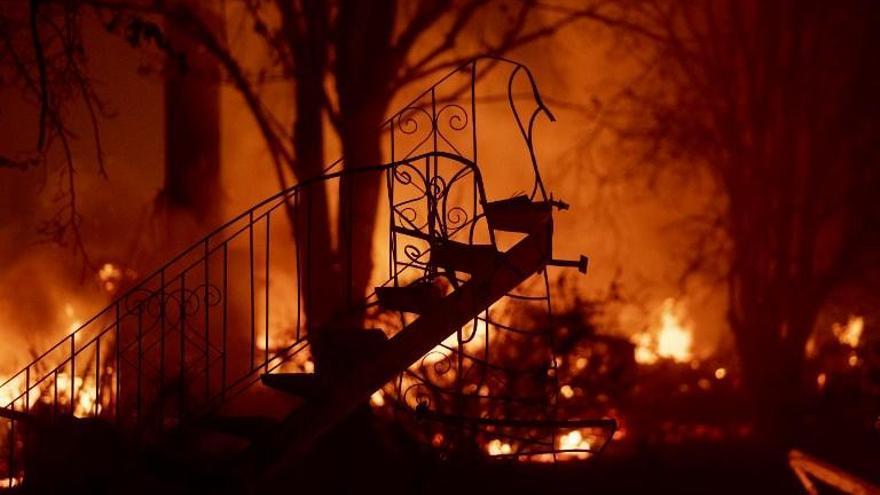 Raquel del Rosario, evacuada de su casa por el incendio de California
