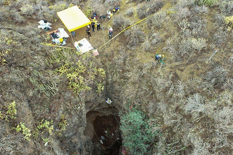 Galería del descenso oficial a la Sima de Jinámar