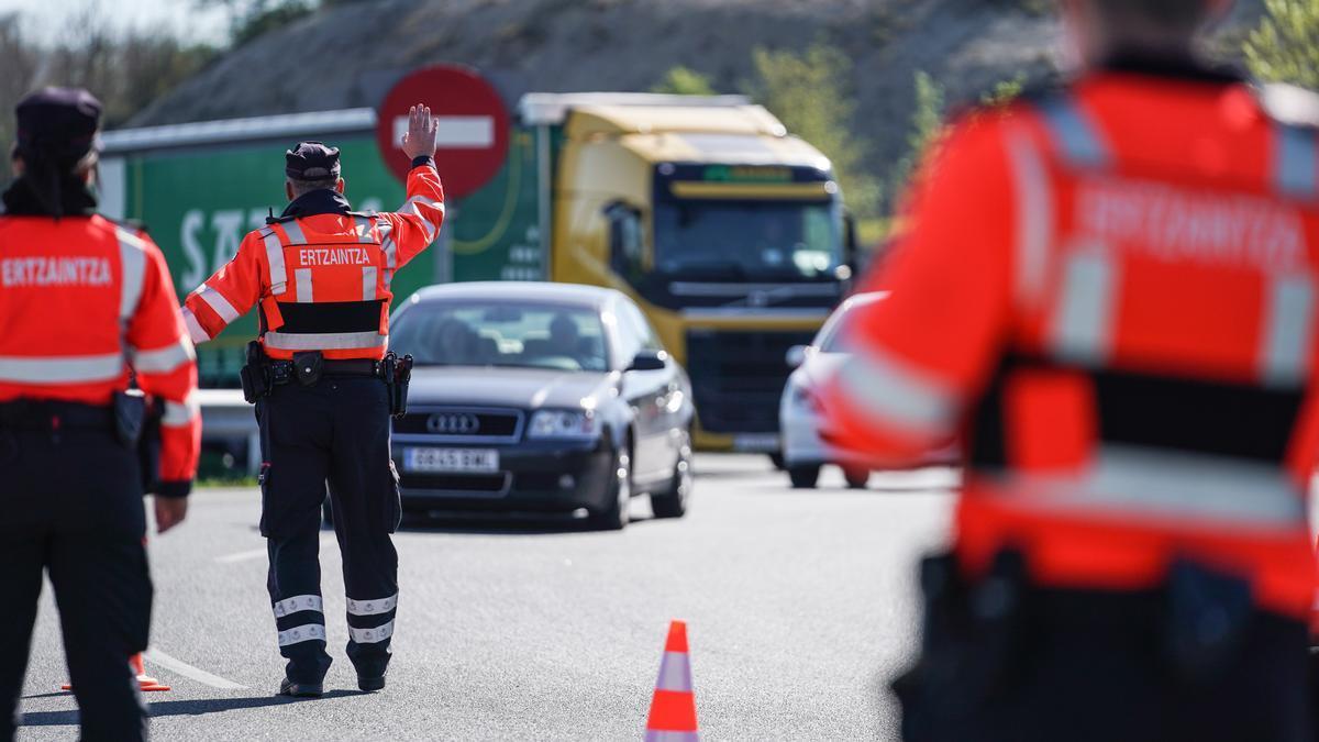 Un control de movilidad en Euskadi.