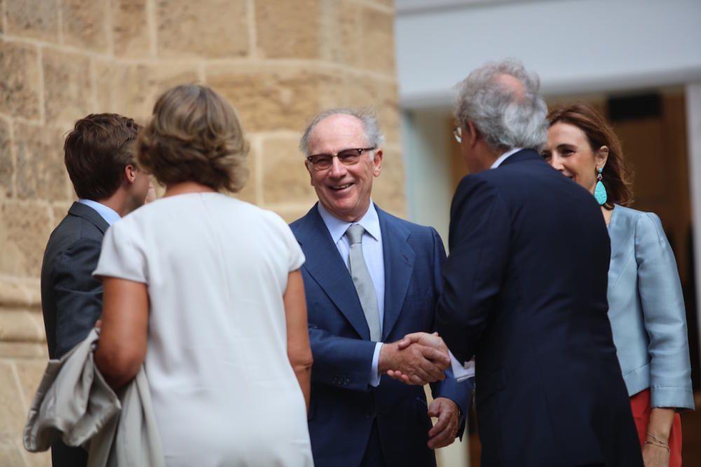 Rodrigo Rato, otro de los asistentes a la boda.