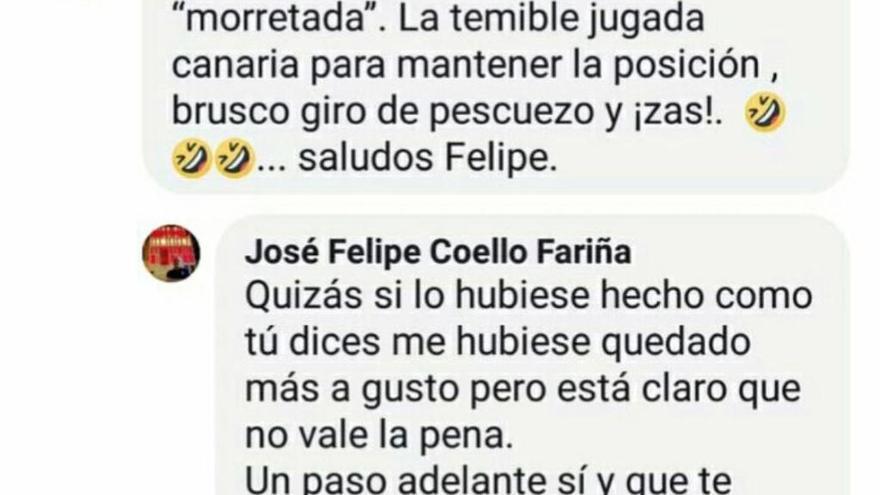 """Felipe Coello: """"Si le doy, obviamente, no se levanta"""""""