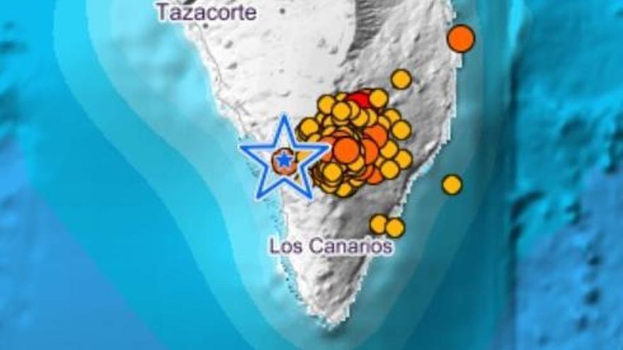 40 terremotos en La Palma en seis horas