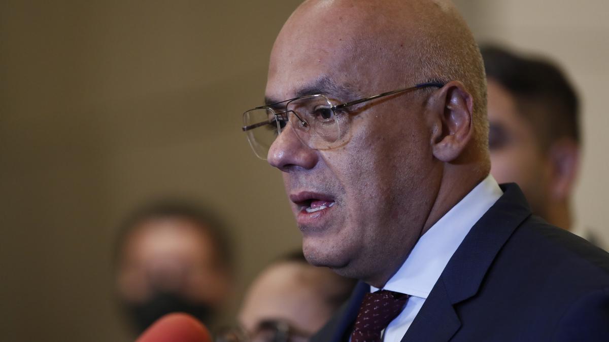 El presidente de la Asamblea Nacional de Venezuela, Jorge Rodríguez.
