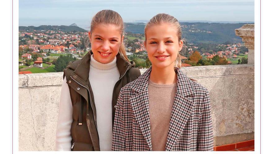 El triplete asturiano de Leonor y Sofía, dos hermanas de postal