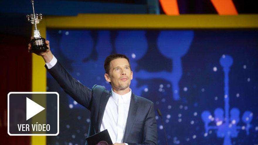 """Ethan Hawke recoge el Premio Donostia: """"El cine es mi religión"""""""