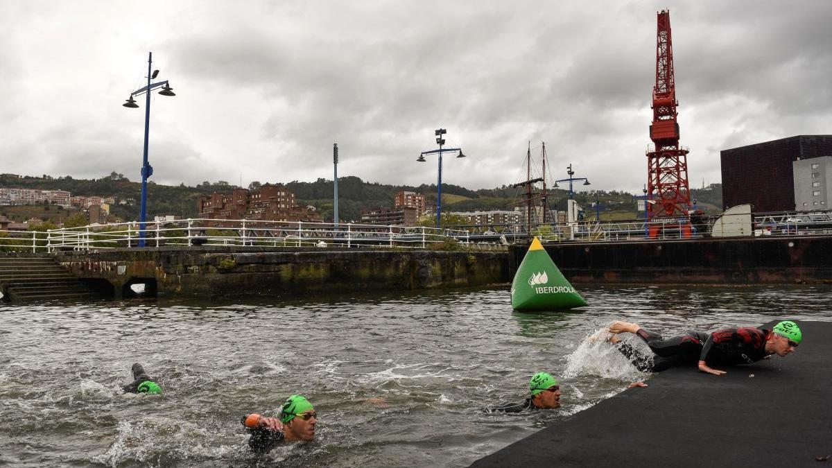 Segmento de natación en el Campeonato de España, disputado en Bilbao.