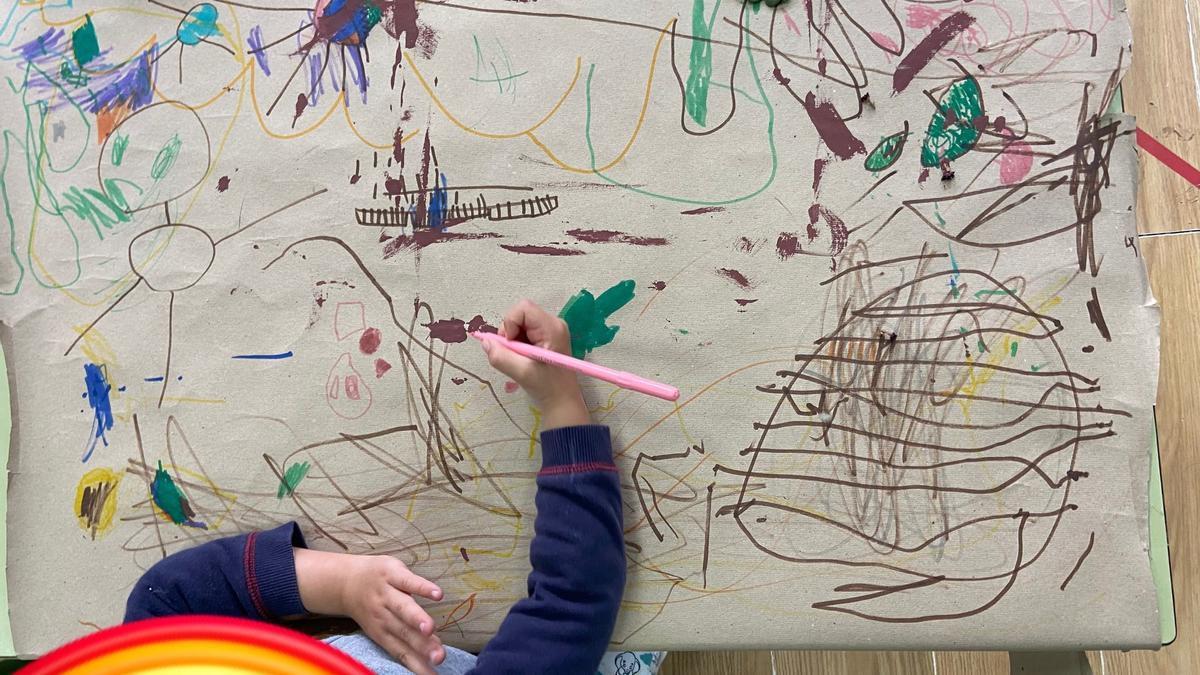 Foto enviada polo mestre Diego Ricón para mostrar o traballo creativo do alumnado.