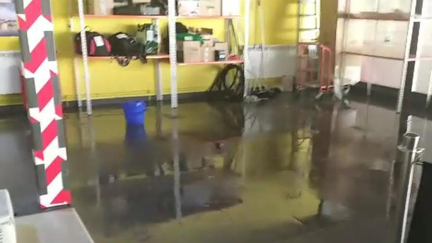 Inundaciones en la estación de autobuses por las tormentas