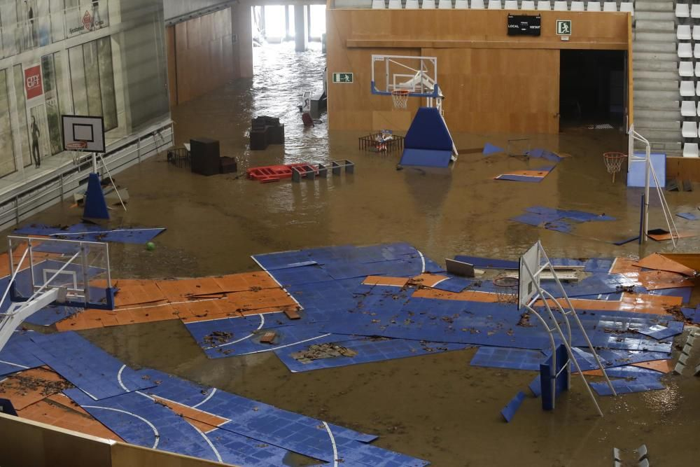 Inundació al Pavelló de Fontajau.