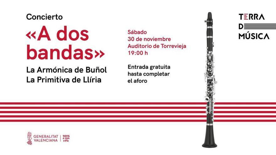 Concierto a dos bandas este sábado en Torrevieja para celebrar Santa Cecilia