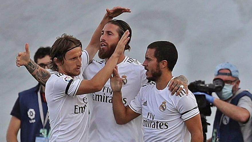 Hazard rescata la pegada perdida del Real Madrid